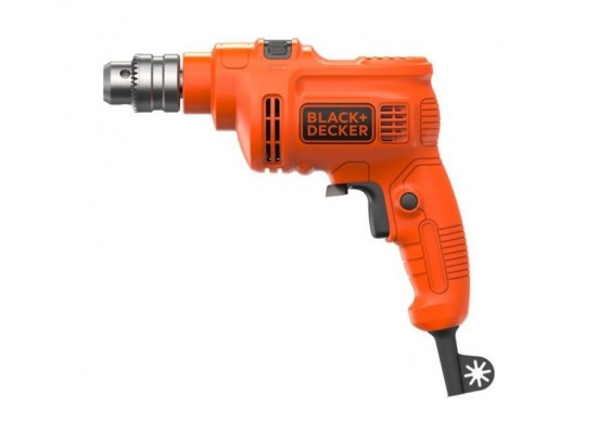 Black & Decker 550W 10mm Single Speed Drill (KR5010-B5) - Orange