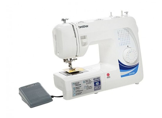 Brother 27 Stitch Sewing Machines (GS2700-3P) White - Left View 2