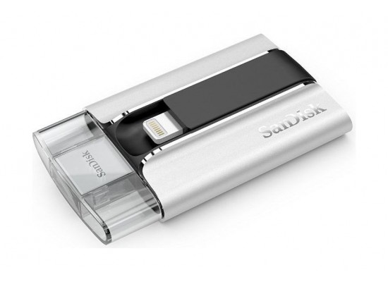 SanDisk SDIX-032G-G57 iXpand 32GB USB Flash Drive and Lightening Cable for iPhone, iPods and iPad
