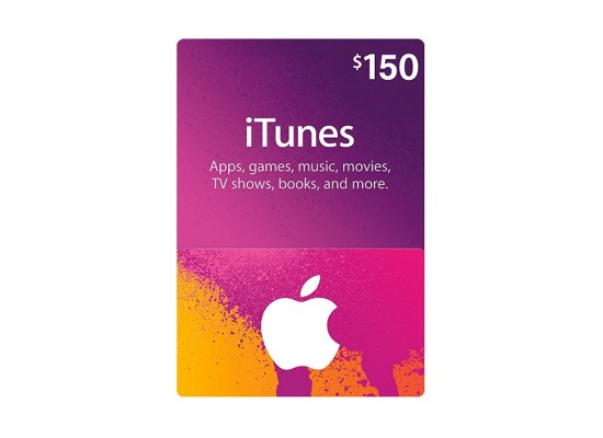 Apple iTunes Gift Card $150 (U.S. Account)