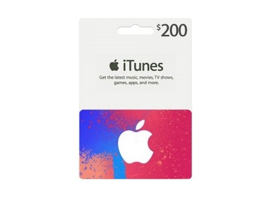 Apple iTunes Gift Card $200 (U S  Account)