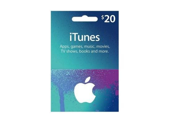 Apple iTunes Gift Card $20 (U.S. Account)