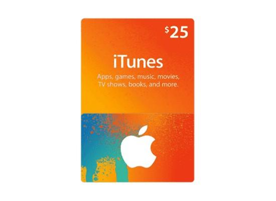 Apple iTunes Gift Card $25 (U.S. Account)