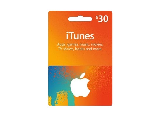Apple iTunes Gift Card $30 (U.S. Account)