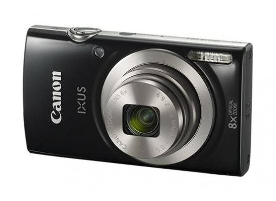 Canon IXUS 185 Digital Camera, 20MP 2.7-inch LCD Display – Black Side View