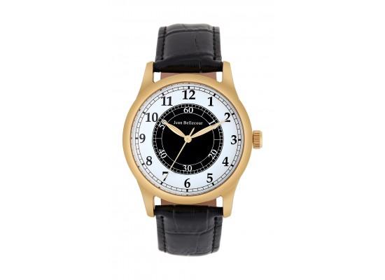 Jean Bellecour 42mm Quartz Analog Gent's Leather Watch - JB1042