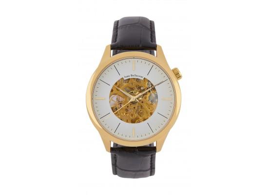 Jean Bellecour 45mm Squelette Analog Gent's Leather Watch - JB1126