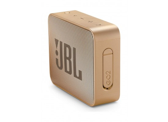 JBL GO 2 Portable Bluetooth Waterproof Speaker - Champagne