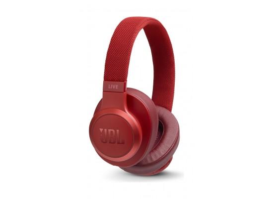 JBL Live 500BT Wireless Over-Ear Headphones - Red 4