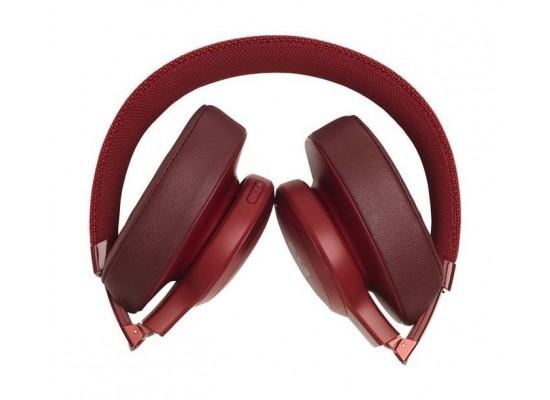 JBL Live 500BT Wireless Over-Ear Headphones - Red 5