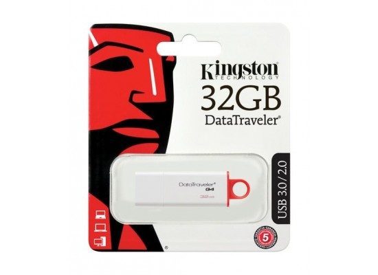 Kingston 32GB USB 3.0 DataTraveler I G4 Flash Drive - Red