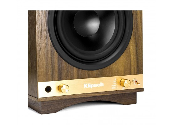 Klipsch The Sixes Bluetooth Active Speaker - Walnut