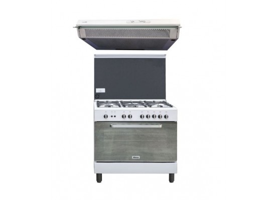 Wansa 90x60cm Gas Cooker + Lagermania 90cm Undercabinet Cooker Hood