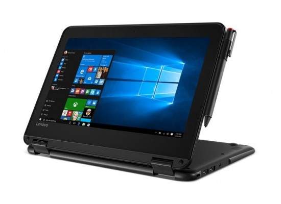 Lenovo 300e Intel Celeron 4GB RAM 128 SSD 11.6-inch Laptop - Black