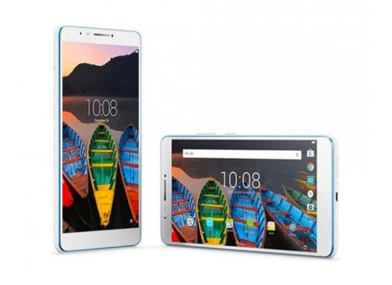 Lenovo TAB 3 7 Plus 7-inch Tablet (TB-7703X) - Left Side & Flat View