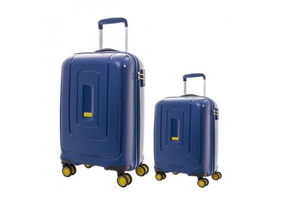 American Tourister Lightrax 55CM + 79CM Hard Luggage (AD8X21006) - Marine Blue