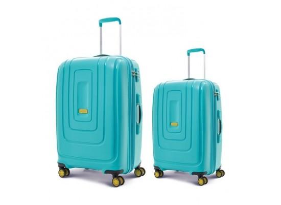 American Tourister Lightrax 55CM + 79CM Hard Luggage (AD8X64006) - Turquoise