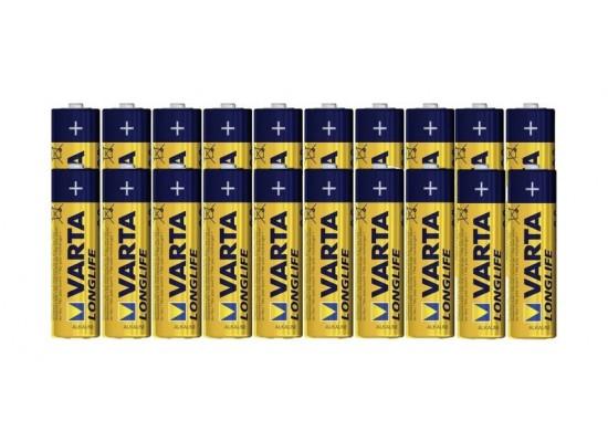 Varta LongLife AA 20Pcs Alkaline Battery (Double Blister)