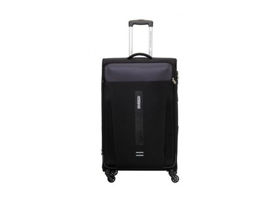 American Tourister Madison 79CM Spinner Soft Luggage (80OX09203) - Black