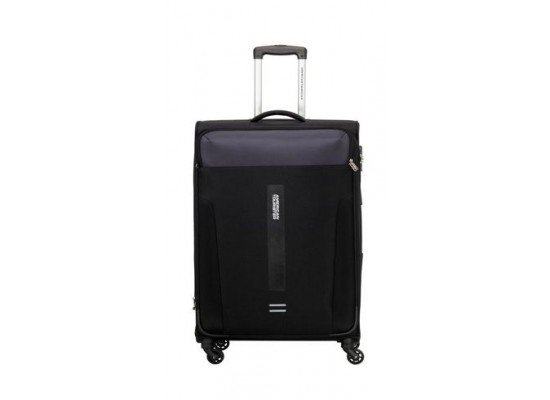 American Tourister Madison 68CM Spinner Soft Luggage (80OX09202) - Black