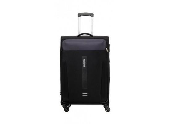 American Tourister Madison 56CM Spinner Soft Luggage (80OX09201) - Black