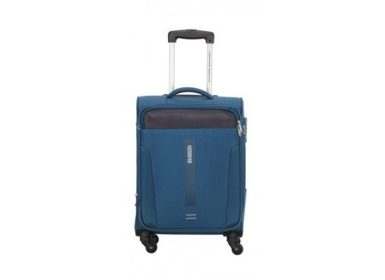 American Tourister Madison 56CM Spinner Soft Luggage (80OX31201) - Blue