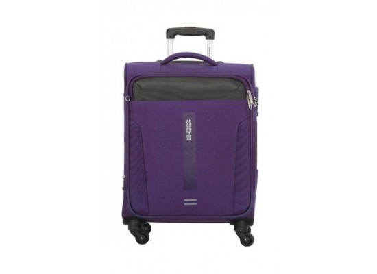 American Tourister Madison 56CM Spinner Soft Luggage (80OX95201) - Purple