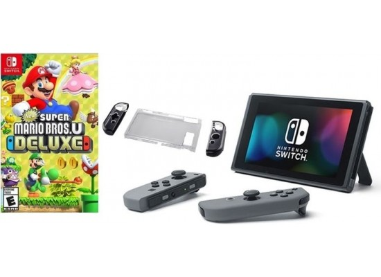 Nintendo Switch Portable Gaming System + Hama 3-Part Hard Cover +