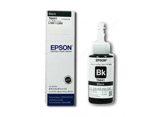 Epson T6641 Ink Bottle for InkJet Printing 4000 Page Yield - Black (70 ml)