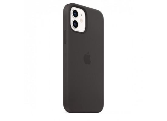 Apple iPhone 12 Mini MagSafe Silicone Case - Black