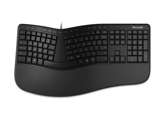 Microsoft Ergonomic Wired Keyboard (LXM-00020) - Black