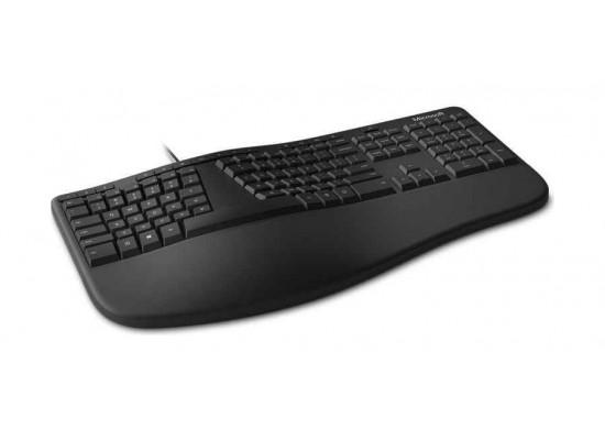 Microsoft Ergonomic Wired USB Desktop Keyboard & Mouse - Black