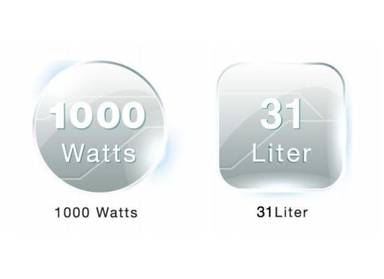 Wansa MR-5002 Microwave 31 Liters 1000Watts - White