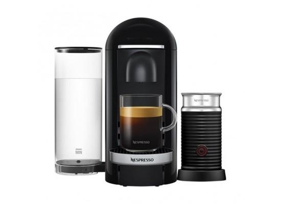 Nespresso VertuoLine Coffee & Espresso Maker with Aeroccino Plus Milk Frother - Black