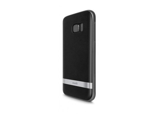 quality design 18e0a c6edd Moshi iGlaze Napa Case for Galaxy S7 (99MO058005) - Black