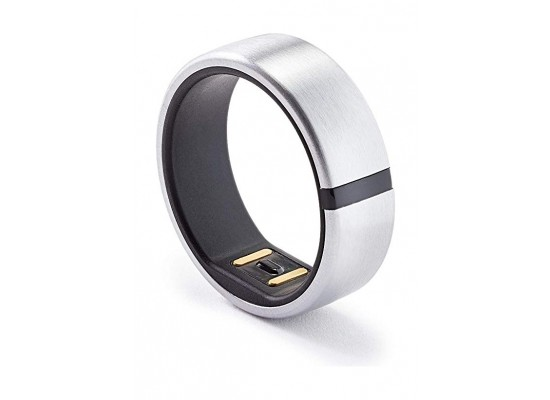 Motiv Waterproof Fitness Smart Ring Tracker (Size 9) - Silver
