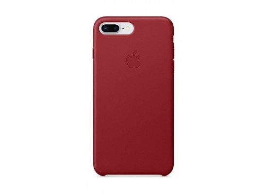 watch 08429 2a5ee Apple Leather Case For iPhone 8 Plus (MQHN2ZM/A) - Red