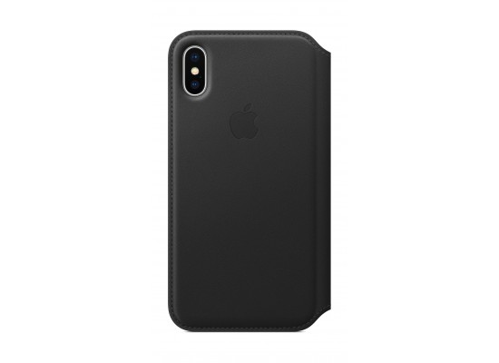 sports shoes 09715 2491a Apple Leather Case For iPhone X (MQRY2ZM/A) - Black