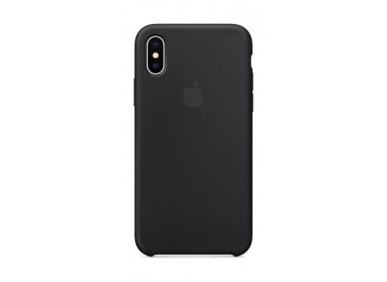 timeless design 64356 90bf4 Apple Silicone Case For iPhone X (MQT12ZM/A) - Black