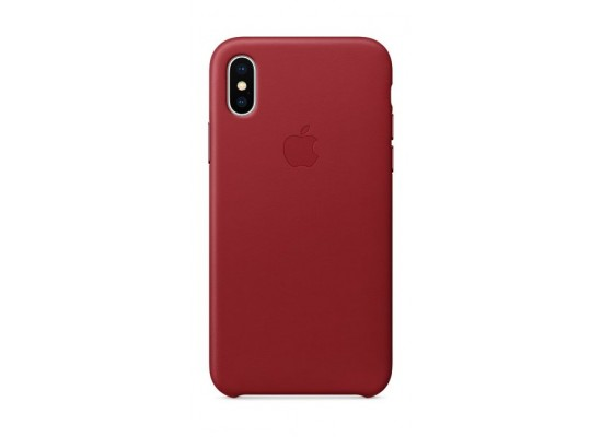 buy online fadd7 0562a Apple Leather Case For iPhone X (MQTE2ZM/A) – Red