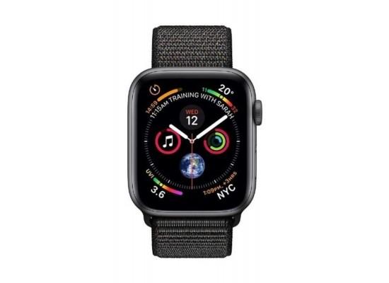 Apple Watch Series 4 GPS + Cellular, 40mm Aluminum Black/Silver Sport Band