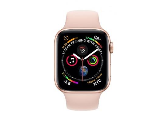 Apple Watch Series 4 GPS + Cellular, 44mm Aluminum Pink Sand Sport Band