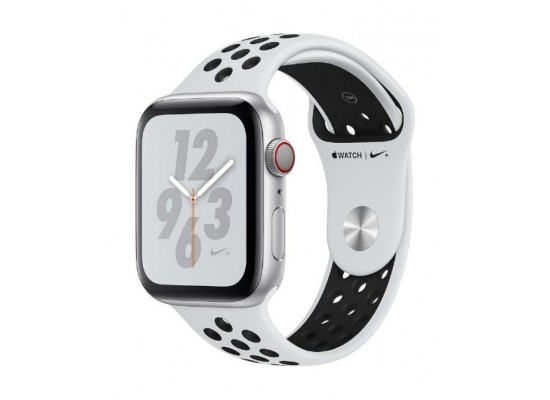 Apple Watch Nike + Series 4 GPS + Cellular, 44mm Aluminum White Sport Band