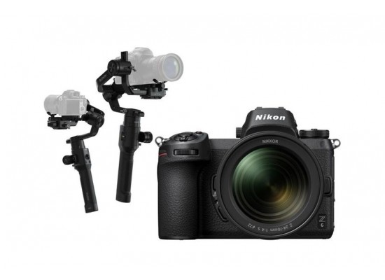 Nikon Z 6 Mirrorless Digital Camera With 24-70mm Lens + Dji Ronin-S- 3-Axis Stablizer For DSLR
