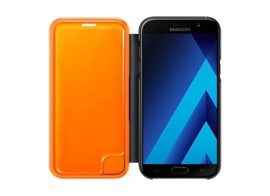 size 40 3a4bb 3572e Samsung Galaxy A3 2017 Neon Flip Cover (EF-FA320PBEGWW) - Black