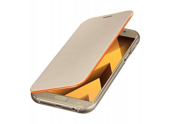 Samsung Galaxy A3 2017 Neon Flip Cover (EF-FA320PFEGWW) - Gold