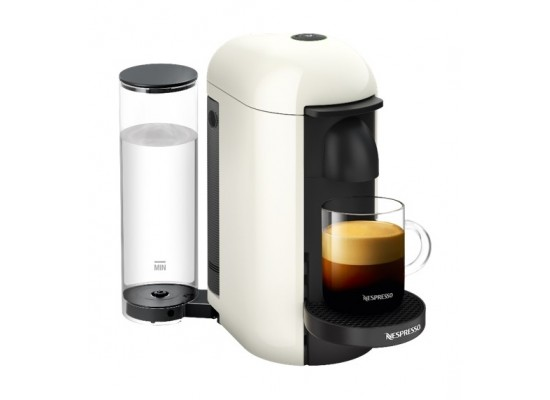 Nespresso VertuoLine Coffee & Espresso Maker with Aeroccino Plus Milk Frother - White