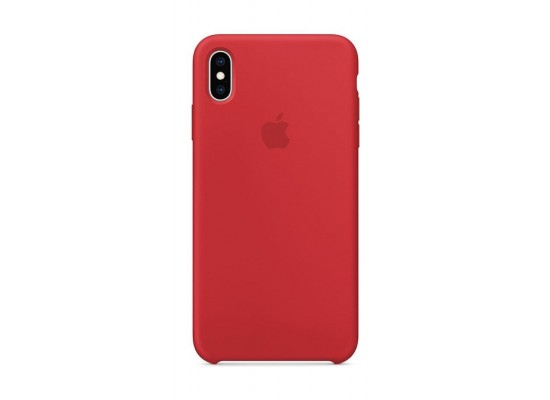 new concept 2e532 a4ee8 Apple iPhone XS MAX Silicone Case - Red