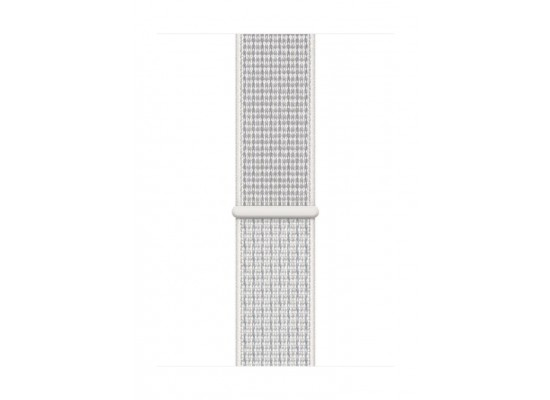 new Apple Watch Nike+ Series 4 GPS 40mm Silver Aluminum Case with Summit White Nike Sport Loop - MU7F2AE/A