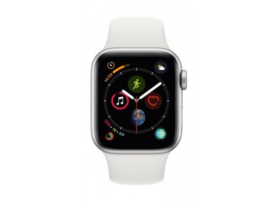Apple Watch Series 4 GPS + Cellular, 40mm, Silver Aluminum Case With White Sport Band